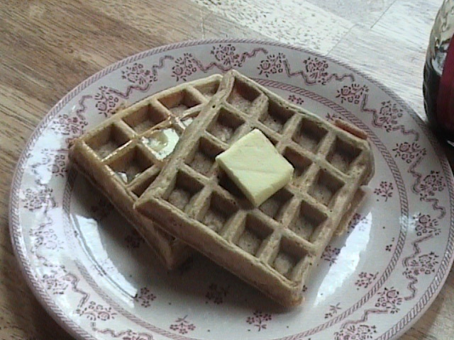 waffles sprouted spelt